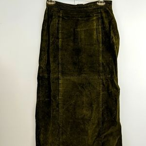 Newport News Styleworks Size 8 Leather Skirt